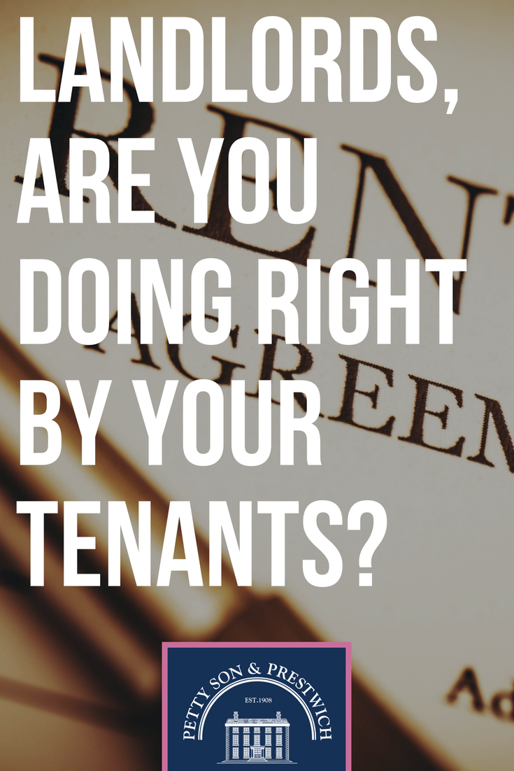 landlords are you doing right by your tenants