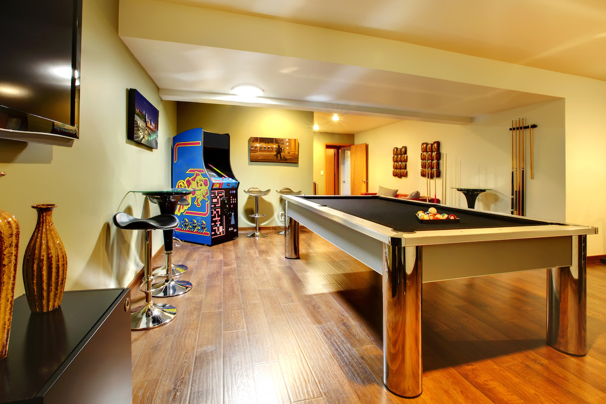 basement conversion games room