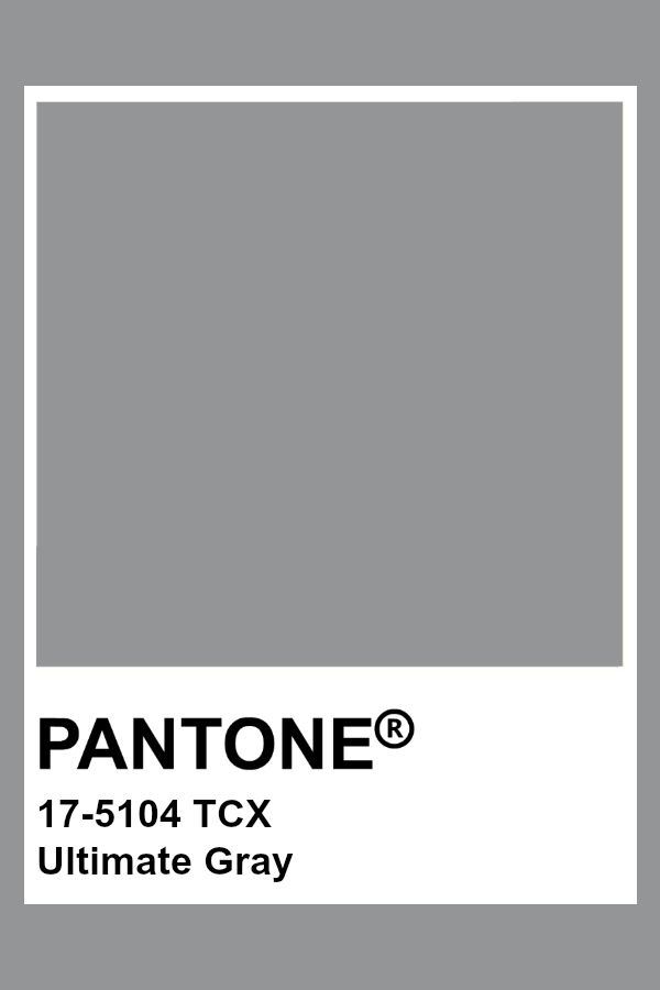 pantone ultimate gray